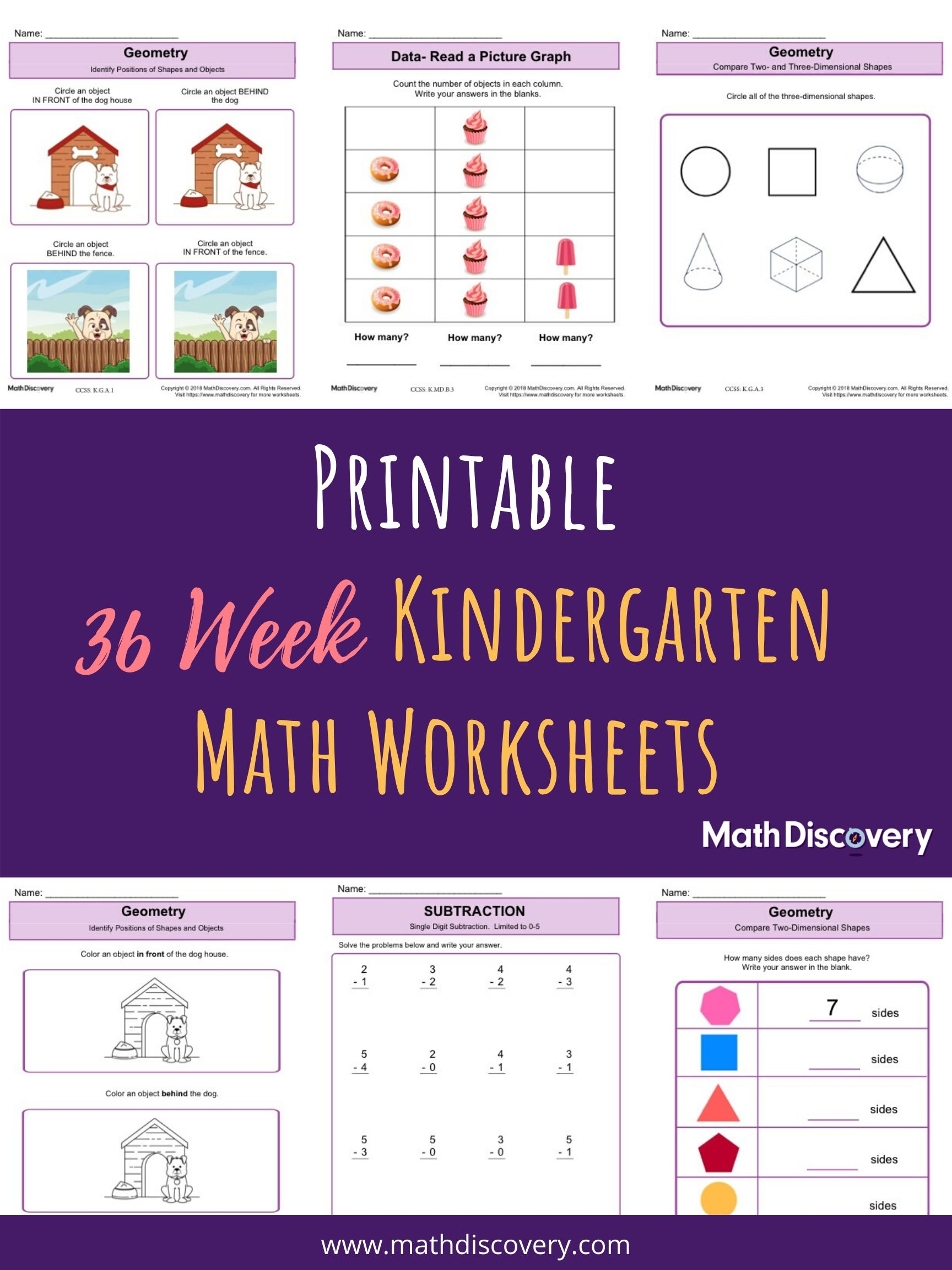 Weekly Kindergarten Math Lessons