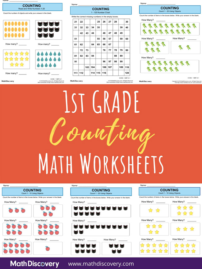 1st Grade Counting Worksheets