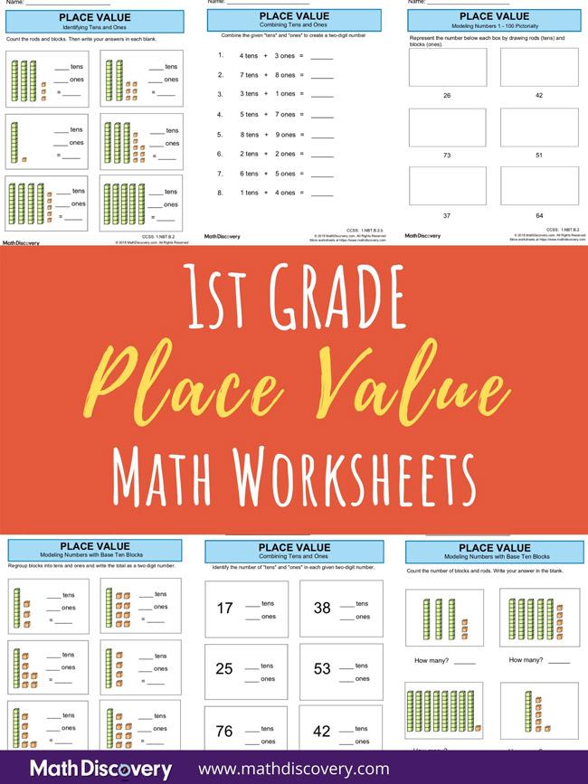 1st Grade Place Value Worksheets