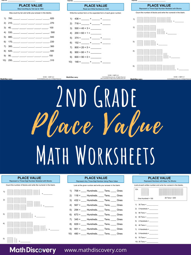 2nd Grade Place Value Worksheets