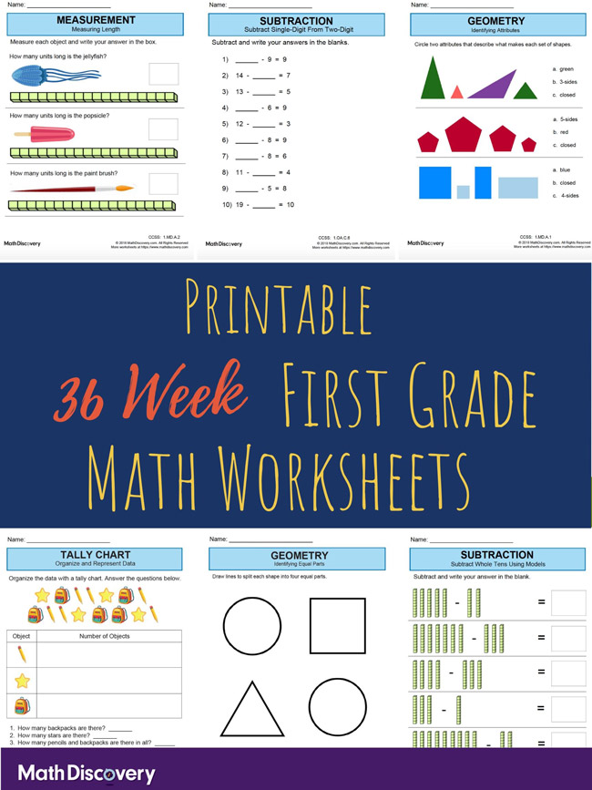 36 Week 1st Grade Math Lessons