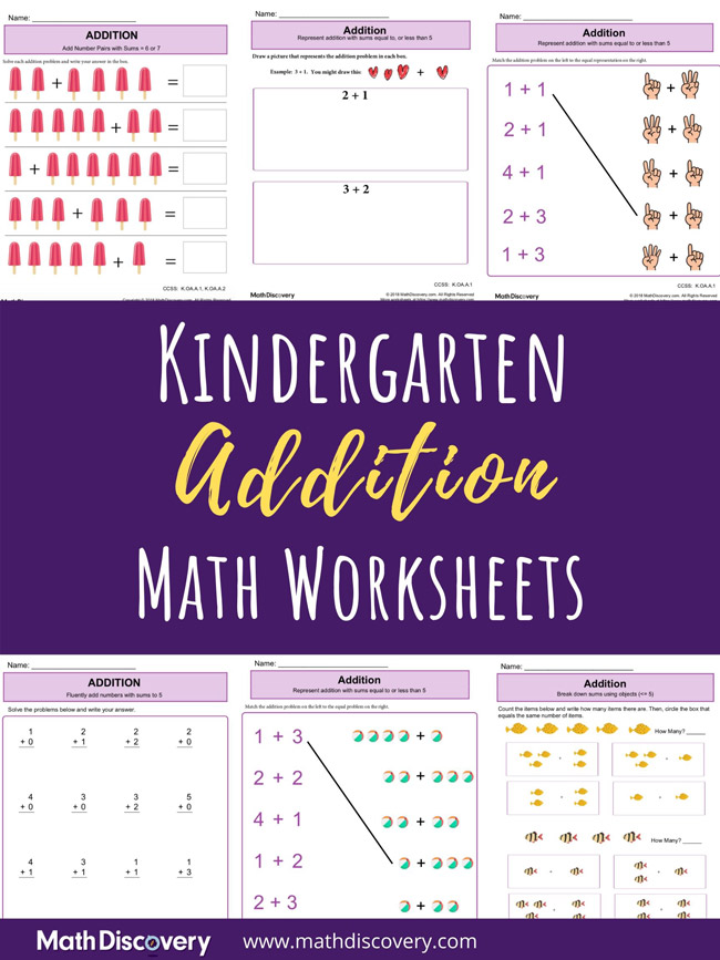 Kindergarten Addition Worksheets