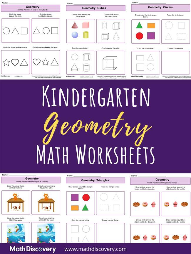 Kindergarten Geometry Worksheets