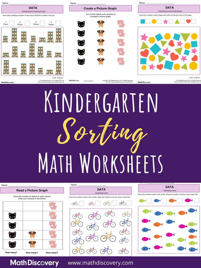 Kindergarten Sorting Worksheets
